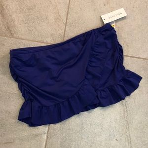 NEW KENNETH COLE BLUE FULL BIKINI BOTTOM SKIRT